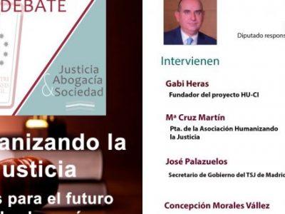 #HumanizandoLaJusticia llega al Aula de Debate del ICAM para tratar los retos pendientes para la Abogacía