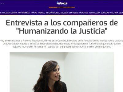 El medio Estrella Digital entrevista a la Directora de la Asociación Humanizando la Justicia