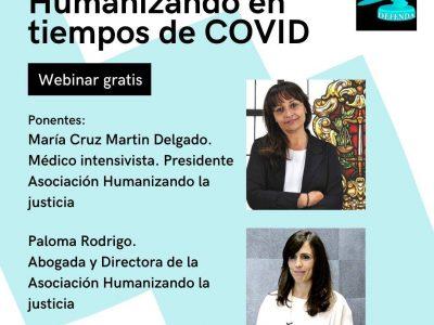 Próximo 20 de julio webinar #Humanizando en tiempos de Covid con la Asociación en Defensa de la Abogacía