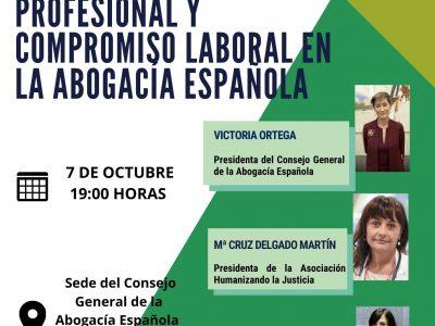 Presentación del estudio sobre el nivel de desgaste profesional y compromiso laboral en la abogacía española
